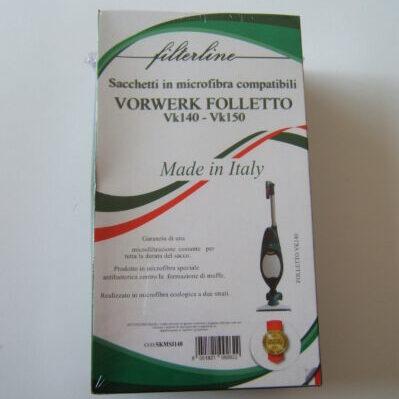 Sacchetti microfibra scatola VK 140/150