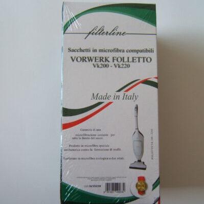Sacchetti microfibra scatola VK 200/220